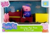 Peppa Pig - Vovô Pig Maquinista Com Trenzinho - Sunny Brinquedos