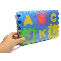 Pequeno Tapete Infantil Tatame EVA - Hora de Aprender - Alfabeto e Números - 36 peças - 9cm - 99 Expresso