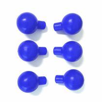 Pera para Eletrodo Precordial ECG Infantil KIT 6 UND Azul Látex - Vepex