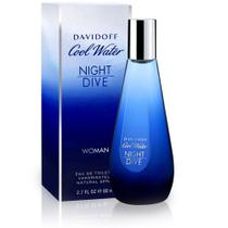 Perfume cool water night dive feminino eau de toilette 80ml  davidoff