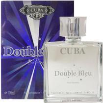 Perfume cuba double bleu masculino 100ml original -