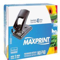 Perfurador Metálico 40 Folhas 2 Furos - Maxprint -