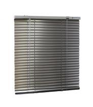 Persiana Horizontal Alumínio 25mm Prata (L) 50 X 45 (A) cm Cortina c/ Kit Instalação 0,50 x 0,45 - Euroflex