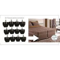 pes baixos para camas box king queem 12 pés com 4 cm de altura - Rodrim
