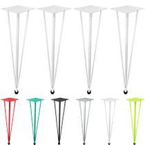 Pés Base de Mesa de Jantar Hairpin Legs 75cm - 04 unidades - Genus móveis