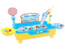 Pescaria Jogo Aqua Pesca Motor Vara Peixinho Brinquedo Fenix -