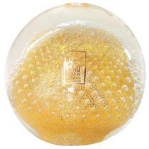 dc45ad685a Peso em Cristal Murano Transparente com Pó de Ouro 24K - São marcos