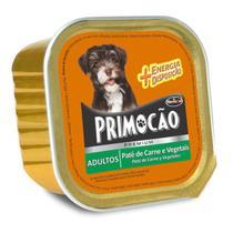 Petisco Cão Úmido Primocao Adulto Patê carne e vegetais 300g - Primocão