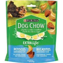 Petisco Dog Chow Carinhos para Cães Filhotes Raças Pequenas Sabor Banana e Leite 75g - Nestle