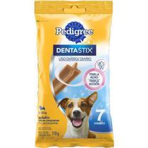 Petisco pedigree dentastix para cães adultos de raças pequenas c/ 7 unidades -