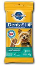 Petisco Pedigree Dentastix Raças Pequenas 3 Unidades 45g para Cães -