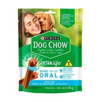 Petisco Purina Dog Chow Extra Life Saúde Oral para Cães de Porte Mini e Pequeno - 45g - 3 Unidades - Purina / Dog Chow