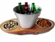 Petisqueira + Balde De Gelo P/ Cervejas Area Gourmet - Makeer produtos