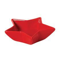 Petisqueira de cerâmica Estrela Funny Scalla vermelha 12X4CM - 23868 -