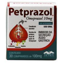 PETPRAZOL 10mg - frasco com 30 comprimidos - Vetnil -