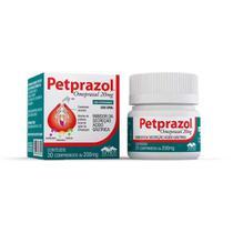 Petprazol 20mg - Inibidor Da Secreção Ácido Gástrica - 30 Comprimidos - 30 Comprimidos - Vetnil