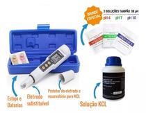 Phmetro Medidor Ph Digital Atc  Acompanha Sachês Calibradores e Kcl - Akso