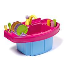 Pia De Cozinha Infantil Play Time Acqua Clean Que Sai Água - Cotiplás