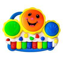Pianinho Bebe Brinquedo Infantil Educativo Piano Tambor Musical - Barcelona