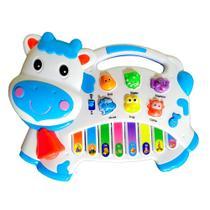Pianinho de Vaca Bebê com Controle de Volume Músicas Luz - Toy King