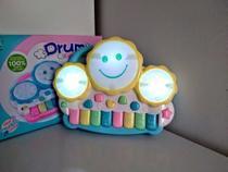 Piano Bebê  Drum  Infantil Musical Luminoso Sonoro Teclado. - Dm Toys