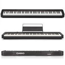Piano Casio CDP-S100 Preto 88 teclas Com Fonte e Pedal Sustain -
