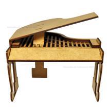 Piano De Cauda Para Casa Barbie 15,5x15,5x14 Laser Mdf Madeira - Atacadão Do Artesanato Mdf