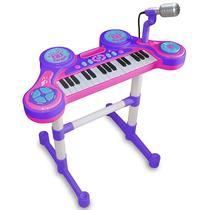 Piano e Teclado Eletrônico Infantil - Roxo - Unik Toys -