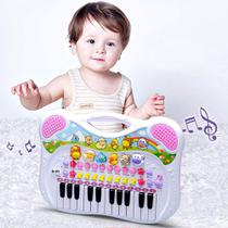 Piano e Teclado Musical Infantil Animal - Rosa - Braskit -