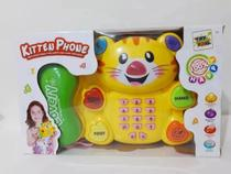 Piano Gato Telefone Musical Infantil Teclado Baby Com Luz - Toys