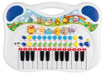 Piano Infantil Musical Azul Menino Divertido Gravador - Braskit