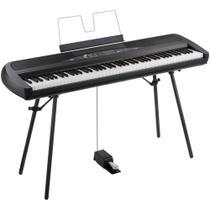 Piano Korg SP-280 Preto Com Móvel -
