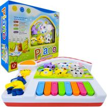 Piano Musical Infantil Fazendinha Sons De Animais E Luz - Wellmix