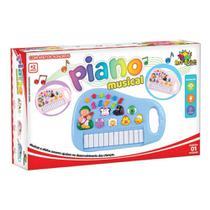 Piano Musical Teclado Infantil Sons E Luzes Animais Sitio - Toys