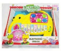 Piano Teclado Animal Infantil Eletrônico Do,re,mi,sol,la,si Amarelo - Emporio Magazine
