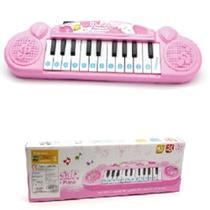 Piano teclado infantil 22 teclas eletronico musical rosa menina luxo - Only Toys