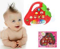 Piano Teclado Infantil Bebê Bichos Musical Moranguinho - King Toys