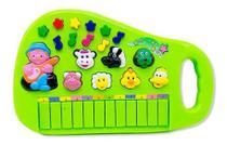 Piano Teclado Musical Infantil Bebe Sons Animais Eletronico VERDE - Toys