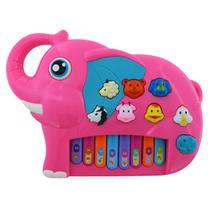 Piano Teclado Musical Infantil Bebe Sons Bichos Animais Eletronico - Bbr Toys
