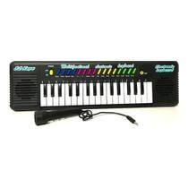 Piano Teclado Musical Infantil Sons Eletrônico 32 Teclas Com Microfone Embutido - Keyboard