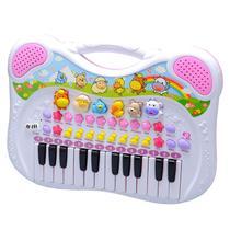 Piano Teclado Musical Infantil Sons Eletrônicos - Braskit -