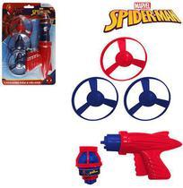 Piao com luz + helices e disparador homem aranha/spider man na cartela - Etitoys