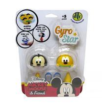 Pião de Batalha Gyro Star Disney 2 Unidades - Mickey Mouse e Pluto - DTC -