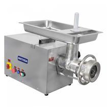 Picador de Carne Industrial Boca 98 Inox Monofásico PCL Metvisa 220V Prata -