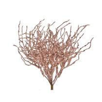 Pick Enfeite Natal Galho e Detalhes Rose Gold 20cm 1 Unidade - Cromus
