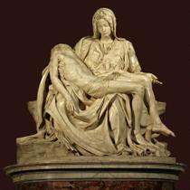 Pietá (1499) - Michelangelo - 30x30 - Tela Canvas Para Quadro - Santhatela