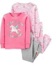 Pijama Carters Infantil Menina 4 Peças Unicórnio -