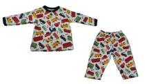 Pijama Infantil Carros - Branco -  Piu Piu -