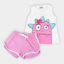 Pijama Infantil Duzizo Dino Brilha no Escuro Feminino -