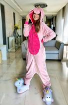 Pijama Infantil Kigurumi - Unicórnio Rosa - Tamanho P - Água Viva Lingerie